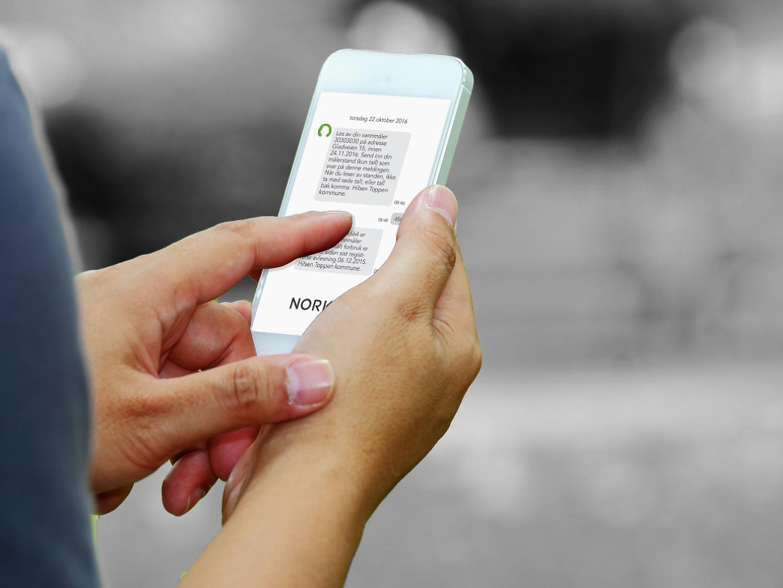 SMS-vannmåler-avlesning