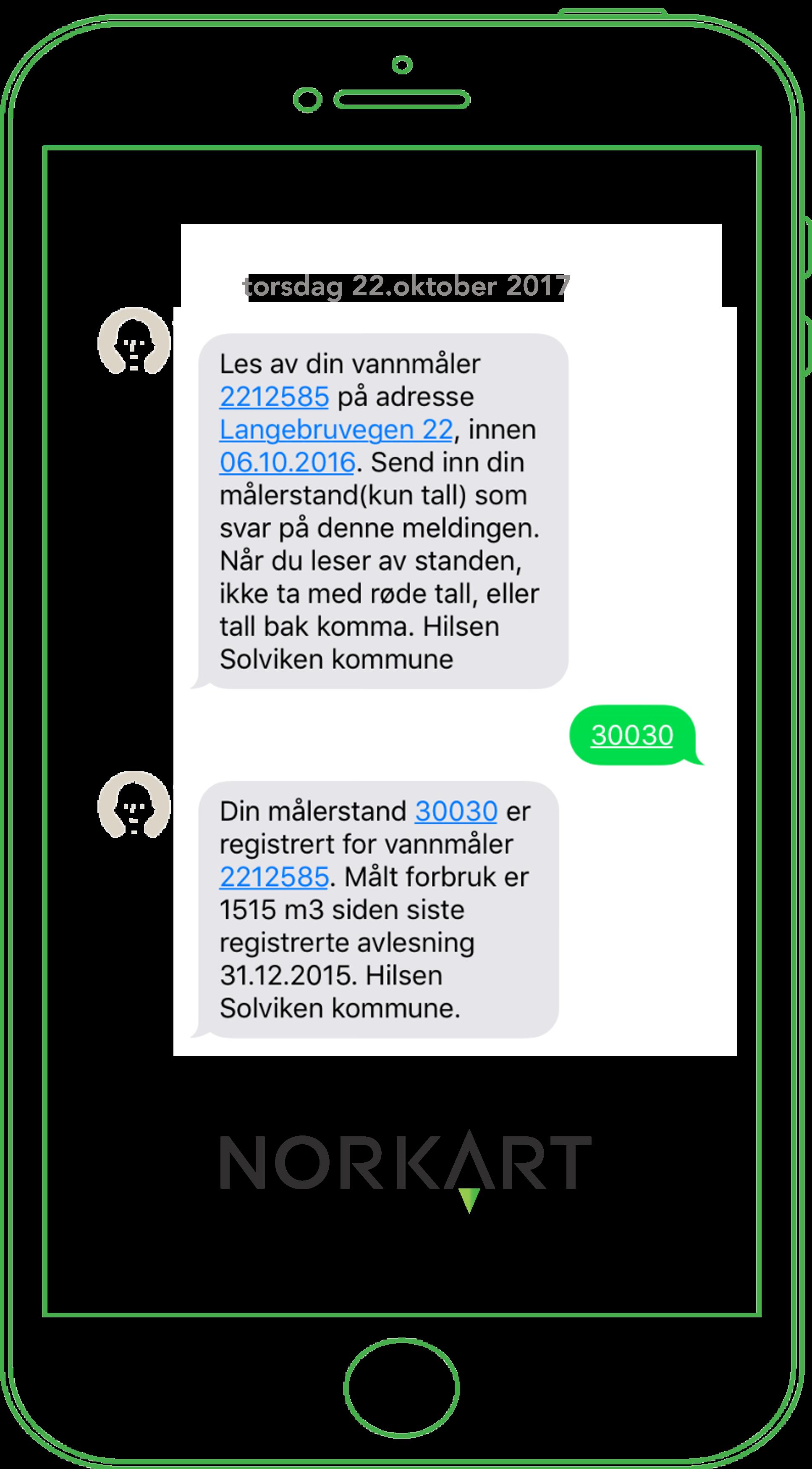 Mobil Vannmåleravlesning med SMS